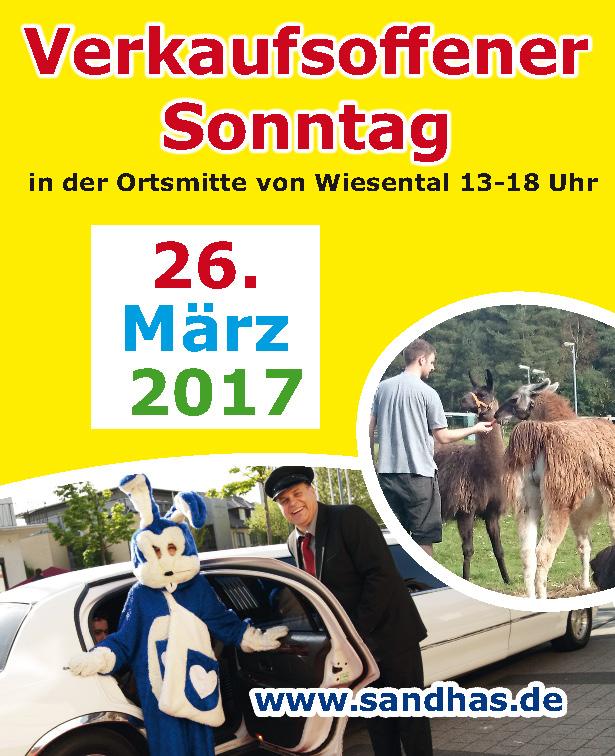 Verkaufsoffener Sonntag 26.03.2017